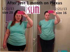 Wow 1 month on Plexus Slim down, down, down in dress size