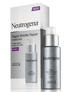 Neutrogena Rapid Wrinkle Repair Night Moisturizer...To all the women who want to nurture their skin, but dont want to spend 100 s of dollers..Neutrogena has a fabulous skincare line that has the ingredients to make a difference in your skin. The ingredients cant lie..Retinol, hylauronic acid, q10, marine extracts..look for these ingredients. I would recommend neutrogena anti aging products as one of the best skin care lines in its class ( drugstore core line)