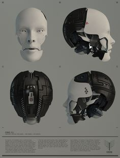 Futuristic Advertisement of robot parts/ manufacturing/ cool stuff/ AI/ Artificial Intelligence/ Engineering/ Commercial/ Arte Cyberpunk, Cyberpunk 2077, Character Concept, Concept Art, Character Design, Blender 3d, Humanoid Robot, Face Images, Robot Design