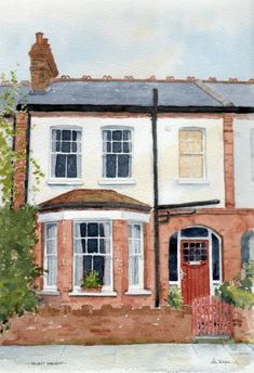 Rob Thorpe Artist Artwork Gallery beautiful affordable house portraits in watercolour watercolor House Sketch, House Drawing, Watercolor Beginner, Watercolour Tips, Watercolour Paintings, Beginner Painting, Oil Paintings, Watercolor Art, Buildings Artwork
