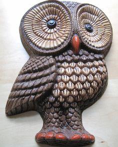 pair of owl wall hangings by oomimmi on Etsy, $12.50