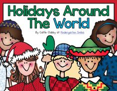 Holidays Around the World pack! Stuffed with goodies: suitcase, crafts, centers, informational slides...and aligned to Common Core!