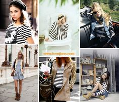 stripes white and navy