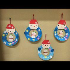 【アプリ投稿】【冬の製作】2歳児 雪だるま | みんなのタネ | あそびのタネNo.1[ほいくる]保育や子育てに繋がる遊び情報サイト
