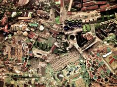 Isaiah Zagar's magic garden, Philly....which I'm now officially obsessed with! LOL! THIS PIECE OF ART IS SO AMAZING,  I COULD SPEND HOURS IN THERE!