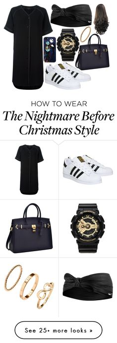 """""""Untitled"""" by yellevirgo on Polyvore featuring rag & bone, adidas, Loungefly, NIKE and G-Shock"""