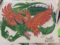 Prismacolor dragon and Phoenix by Saadat