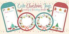 Free Printable Set of Christmas Tags you will LOVE - The Cottage Market