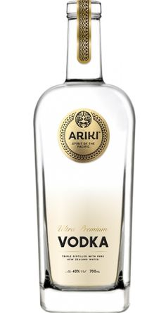 Ariki Ultra Premium Vodka. Brand and packaging design by New Zealand based Redfire. www.redfiredesign.co.nz #vodka, #vodkapackaging, #premiumpackaging