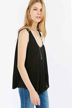 Truly Madly Deeply Exposed Seam Tank Top