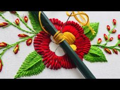 Brazilian Embroidery Stitches, Basic Embroidery Stitches, Hand Embroidery Videos, Hand Embroidery Tutorial, Embroidery For Beginners, Crewel Embroidery, Sewing For Beginners, Embroidery Designs, Crochet Bedspread
