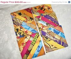 Summer Sale Ethnic Coasters Handmade with Genuine by Love2quilt #handmade #QuiltedCoasters #alexpals
