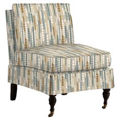 Add a pop of pattern to your living room or den with this chic accent chair, showcasing a jacquard-inspired motif and pillow top seat.