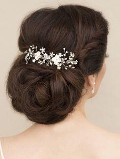 "Hair Comes the Bride - Adorable Bridal Flower Hair Comb - ""Juliet"", $58.00 (http://www.haircomesthebride.com/adorable-bridal-flower-hair-comb-juliet-1/)"