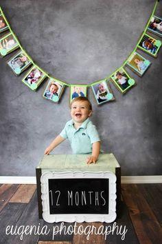 Burlap photo banner for 1st birthday