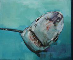 Patrick Delaunay - Sourire ambigu du grand requin blanc   Oeuvre d'Art en Vente Artsper