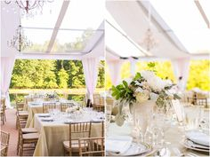 Blush and green centerpiece by Sidra Forman Flowers | Clear white tent by Sugar Plum Tents & Blush and green centerpiece by Sidra Forman Flowers | Clear white ...