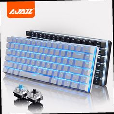 41.99$  Watch here - http://aliiod.worldwells.pw/go.php?t=32682867856 - Ajazz Geek AK33 LED Backlit Usb Wired illuminated Gaming Mechanical Keyboard Gamer Ergonomic Multimedia Blue / Black Switch New 41.99$