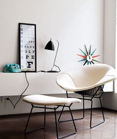 Want this diamond chair and footstool with felt covers.