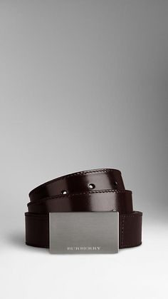 Bridle Leather Plaque Belt. Win Burberry discount Gift Cards on www.cityhits.com and use them towards plaque belts like this one. #himym #suitup #barneystinson #mens #fashion #belt