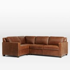 Henry 3-Piece Sectional - Leather   West Elm