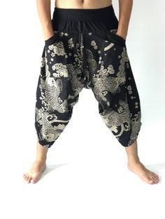 Samurai Pants Men's Fahion Harem Pants Yoga Pants Casual Cotton Bottoms Excited to share this item from my shop: Samurai Pants Men's Fahion Harem Pants Yoga White Pants Men, Men Pants, Male Yoga Pants, Samurai Pants, Black And White Man, Sport Pants, Cotton Pants, Party Fashion, Men's Fashion