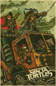 Teenage Mutant Ninja Turtles: Out of the Shadows - Wondercon poster