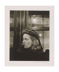 Artwork by Walker Evans, Subway Portrait, Made of Gelatin silver print