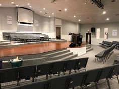 Church Interior Design, Church Stage Design, Interior Architecture, Warm Grey Walls, Accent Chairs For Sale, Church Building, Building Design, Happy Valley, Furniture Chairs