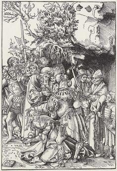 Artist: Cranach d. Ä., Lucas, Title: Enthauptung der Hl. Barbara, Date: 1st half of the 16th century