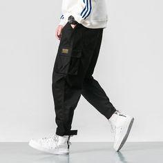 Pantalon-Genjiro Pantalon Noir / M Akin Akin-Shop. Army Cargo Pants, Jogger Pants, Joggers, Harem Pants, Pantalon Streetwear, Style Streetwear, Pantalon Cargo, Hip Hop Outfits, Ankle Length Pants