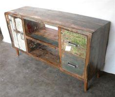 Aparador bajo para tv. Nueva colección Ünik Vintage Furniture.