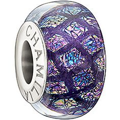 Opulence Collection - Purple Express your love of all things lavish and luxurious with the Opulence bead. Featuring colorful iridescent specs set in Purple glass, this bead provides the perfect splash of class.