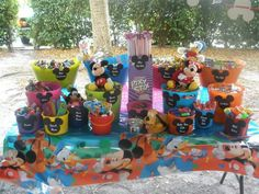 Mickey Mouse Clubhouse Candy/Toy Station. #candystation #candybuffet #toystation #mickeymouseclubhouse #minniemousebowtique #mickeyandminnie