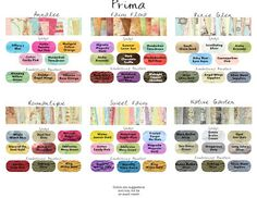 LINDY'S STAMP GANG and Prima Color Match Guide 1-001
