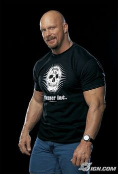 Stone Cold Steve Austin - Yes, he is beautiful in a rugged, kick ass, bald headed, goateed, beer guzzling way!