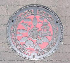 Komaki manhole cover, Aichi Prefecture.