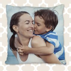 Your mom would love a custom photo pillow with a cherished photo (or ten!) on it. #30giftsformom