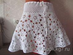 Delicadezas en crochet Gabriela: Hermosa falda de motivos