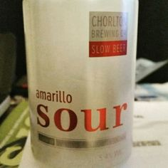 Super sour ale. Very nice. - Drinking a Amarillo Sour by Chorlton Brewing Company