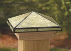 Deckorators® Tiffany-style glass post caps bring matchless stained-glass beauty to your deck, transforming it from a project to a work of art. Add the timeless, artistic look of Tiffany glass to your fence, porch or deck design. Our Tiffany-style glass post caps, handcrafted with exacting standards and excellence, lend an air of elegance to whatever they top.