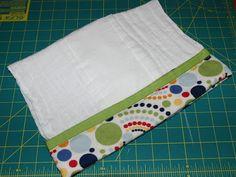 Lipstick and Laundry: Burp Cloth Diaper Tutorial 2.0