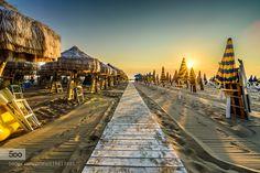 Pescara Beach Sunrise by Sharkypics