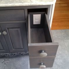 Making The Utility Drawer More Useful: Outlet Hidden Inside Drawer
