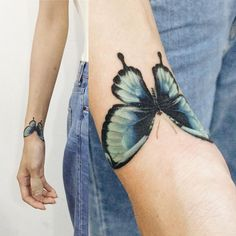 Tattooist_Doy sur Instagram: : Cover-up butterfly #tattoo #tattooistdoy #tattooworkers #tattooistartmagazine #tattooinkspiration #skin_tattoos #inkstinctsubmission #inspirationTattoo #타투 #타투이스트도이 #butterfly #나비 Wrist Tattoo Cover Up, Butterfly Tattoo Cover Up, Butterfly Tattoo Meaning, Butterfly Tattoo On Shoulder, Butterfly Tattoo Designs, Cover Up Tattoos, Colorful Butterfly Tattoo, Trendy Tattoos, Tattoos For Guys