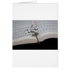 rosary music book card - christmas cards merry xmas family party holidays cyo diy greeting card