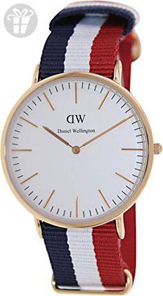 Daniel Wellington Men's 0103DW Classic Cambridge Watch with Multicolor Band (*Amazon Partner-Link)
