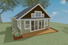 Cottage Plan: 793 Square Feet, 1-2 Bedrooms, 1 Bathroom - 286-00090 Small Cottage Homes, Small Cottages, Cottage House Plans, Cottage Living, Small House Floor Plans, Best House Plans, Maine Cottage, Building A Tiny House, Modern Farmhouse Plans