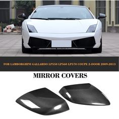 LP550 LP560 LP570 Carbon Fiber Mirror Cover for Lamborghini Gallardo Coupe 2009-2013 More detailed products,pls feel free to contact me through whatsapp/wechat 0086 15271799951 or email:sales024@jcsportline.net
