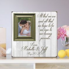 Wedding Gift For Parents Parents Thank You by PhotoFloraStudio ...